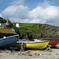 Port Isaac Boats by Kurt Van Wagner