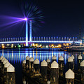 Port Melbourne At Night by Isabella Howard