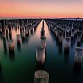 Port Melbourne Australia At Dusk by Isabella Howard