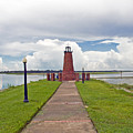 Port Of Kissimmee Lighthouse On Lake Tohopekaliga In Central Florida by Allan  Hughes