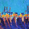 Port Of Malaga by Adriana Dziuba