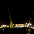 Port Of Tampa At Night by Carolyn Marshall