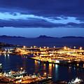 Port Of Vigo At Twilight Galicia Spain by James Brunker