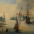 Port Scene With Sailing Ships by Hendrick Avercamp