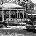Portico At The Rose Garden, David S Lynch Park, Beverly, Massachusetts by Lita Kelley