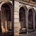 Portico Of San Vicente Avila Spain by Joan Carroll