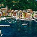 Portifino Italy by Frances Marino