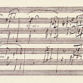 Portion Of The Manuscript Of Beethoven's Sonata In A, Opus 101 by Beethoven
