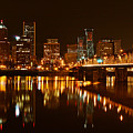 Portland At Night by Wes and Dotty Weber