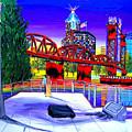 Portland City Lights 62 Over Fire Station #21 by Dunbar's Modern Art