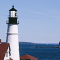 Portland Harbor Lighthouses by George Oze