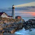 Portland Head Light At Sunrise I by Clarence Holmes
