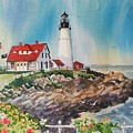 Portland Head Light by Dianna  Willman