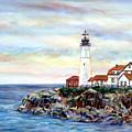 Portland Head Light In Maine by Pamela Parsons