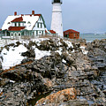 Portland Head Light In Winter by Olivier Le Queinec