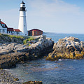 Portland Head Lighthouse Portland Me by Wayman Benton