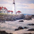 Portland Head Lighthouse by William H RaVell III