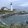 Portland Headlight, Maine by Laurence Konigsberg
