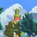 Portland Observatory From Congress Street by Dominic White