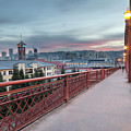 Portland Oregon Downtown On Broadway Bridge by David Gn