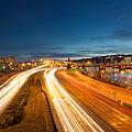 Portland Oregon Interstate Freeway Light Trails by David Gn