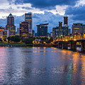 Portland Skyline Along Willamette River by Bryan Mullennix