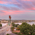 Portland Waterfront Hawthorne Bridge At Sunset by Jit Lim