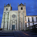 Porto Cathedral By Night In Portugal by Artur Bogacki