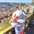 Porto Skyline Woman by Benny Marty