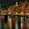 Portofino Bay By Night II - Notte Sulla Baia Di Portofino II by Enrico Pelos