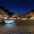 Portofino Bay By Night IIi- Piazzetta Di Portofino By Night by Enrico Pelos