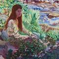 Portrait By The Stream by Dawn Senior-Trask