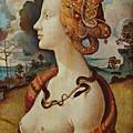 Portrait De Femme Dit De Simonetta Vespucci by Piero di Cosimo