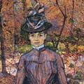 Portrait De Suzanne Valadon Madame Suzanne Valadon, Artiste Peintre 1885 by Henri De Toulouse Lautrec