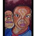 Portrait Eul And Dhani by Carol Rashawnna Williams