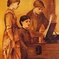 Portrait Group Of The Artists Family by BurneJones Edward