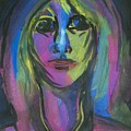 Portrait In Black And Blue by Judith Redman