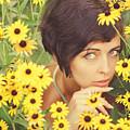 Portrait In Flowers by Vladimir Zotov