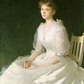Portrait In White by Frank Weston Benson