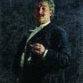 Portrait Mo Mikeshin 1888 Ilya Repin by Eloisa Mannion