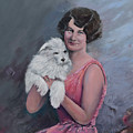 Maggie And Caruso -portrait Of A Flapper Girl by Jan Dappen