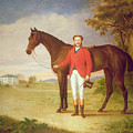 Portrait Of A Gentleman With His Horse by English School