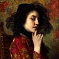 Portrait Of A Georgian Princess by Alexei Alexeivich Harlamoff