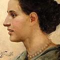 Portrait Of A Girl Henryk Semiradsky by Eloisa Mannion