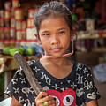 Portrait Of A Khmer Girl - Cambodia by Art Phaneuf