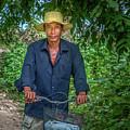 Portrait Of A Khmer Rice Farmer - Cambodia by Art Phaneuf
