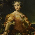 Portrait Of A Lady, Allegory Of Abundantia by Giuseppe Maria Crespi
