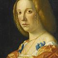 Portrait Of A Lady by Giovanni Francesco Caroto