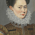 Portrait Of A Lady Head And Shoulders In A Lace Ruff by Follower of Frans Pourbus the Younger