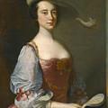 Portrait Of A Lady In Van Dyck Dress by Thomas Hudson
